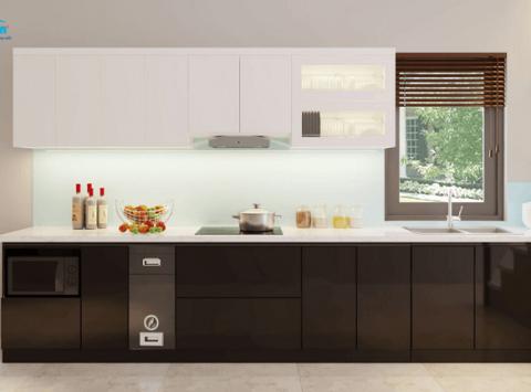 Hình ảnh thiết kế 3D tủ bếp nhà Anh Tâm - Lạc Long Quân