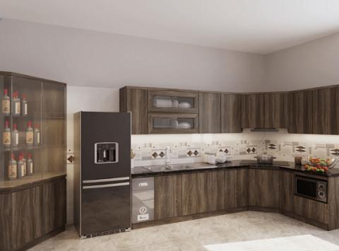 Hình ảnh thiết kế 3D tủ bếp nhà Chị Nguyệt – Thanh Trì